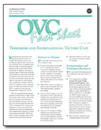 Terrorism and International Victims Unit by