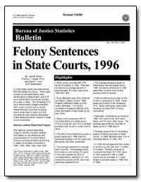 Felony Sentences in State Courts, 1996 by Brown, Jodi M.