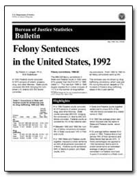 Felony Sentences in the United States, 1... by Langan, Patrick A.