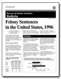 Felony Sentences in the United States, 1... by Brown, Jodi M.