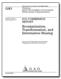 Report Reorganization, Transformation, A... by Walker, David M.