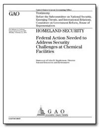 Homeland Security Federal Action Needed ... by Stephenson, John B.