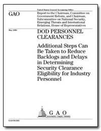 Dod Personnel Clearances Additional Step... by Stewart, Derek B.