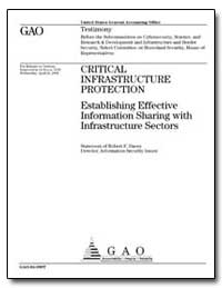Critical Infrastructure Protection Estab... by Dacey, Robert F.