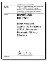 Homeland Defense Dod Needs to Assess the... by Decker, Raymond J.