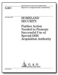 Homeland Security Further Action Needed ... by Woods, William T.