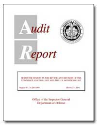 Audit Report by Steensma, David K.