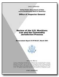 Office of Inspector General Memorandum R... by