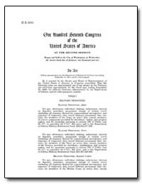 One Hundred Seventh Congress of the Unit... by