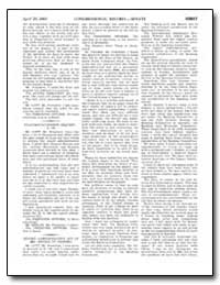 Congressional Record—April 26, 2001 Sena... by