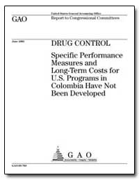 Drug Control Specific Performance Measur... by Ford, Jess T.
