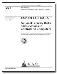 Export Controls : National Security Risk... by Johnson, Harold J.