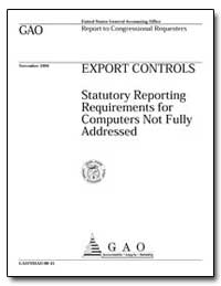 Export Controls Statutory Reporting Requ... by Nelson, Benjamin F.