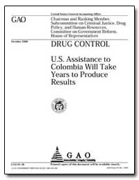Drug Control U. S. Assistance to Colombi... by Ford, Jess T.