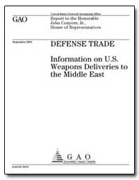 Defense Trade Information on U. S. Weapo... by Schinasi, Katherine V.