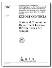Export Controls State and Commerce Depar... by Schinasi, Katherine V.
