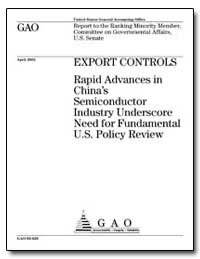 Export Controls Rapid Advances in China'... by Christoff, Joseph A., Director