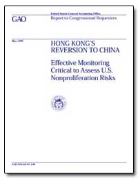 Honk Kong 's Reversion to China by Nelson, Benjamin F.