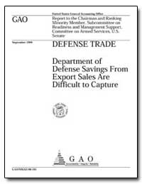 Defense Trade Department of Defense Savi... by Hinton, Henry L.