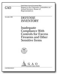 Defense Inventory Inadequate Compliance ... by Warren, David R.