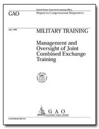 Military Training Management and Oversig... by Gebicke, Mark E.