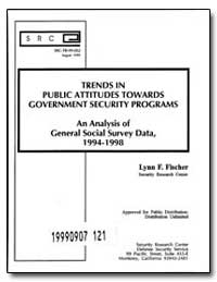 Trends in Public Attitudes Towards Gover... by Fischer, Lynn F.