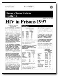 Hiv in Prisons 1997 by Maruschak, Laura M.