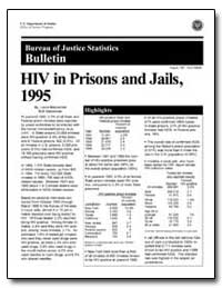 Hiv in Prisons and Jails, 1995 by Maruschak, Laura M.