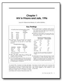 Hiv in Prisons and Jails, 1996 by