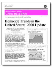 Homicide Trends in the United States : 2... by Fox, James Alan