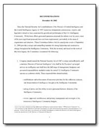 Recommendations December 10, 2002 by