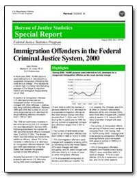 Immigration Offenders in the Federal Cri... by Scalia, John