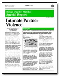 Intimate Partner Violence by Rennison, Callie Marie, Ph. D.