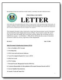 Industrial Security Letter by