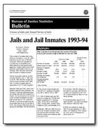 Jails and Jail Inmates 1993-94 by Perkins, Craig A.