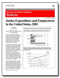 Justice Expenditure and Employment in th... by Bauer, Lynn