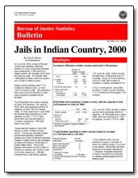 Jails in Indian Country, 2000 by Minton, Todd D.
