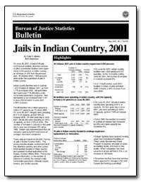 Jails in Indian Country, 2001 by Minton, Todd D.