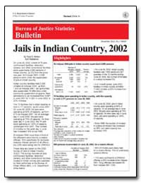 Jails in Indian Country, 2002 by Minton, Todd D.