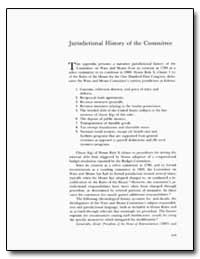Jurisdictional History of the Committee by