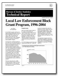 Local Law Enforcement Block Grant Progra... by Bauer, Lynn