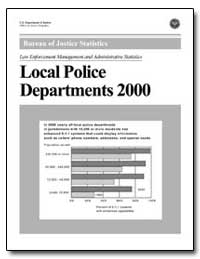 Local Police Departments 2000 by Hickman, Matthew J.