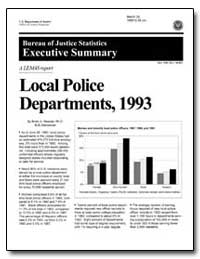 Local Police Departments, 1993 by Reaves, Brian A., Ph. D.
