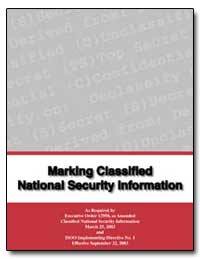 Marking Classified National Security Inf... by