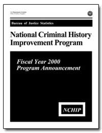 National Criminal History Improvement Pr... by Reno, Janet