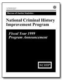 National Criminal History Improvement Pr... by Chaiken, Jan M.
