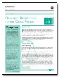 Ordering Restitution to the Crime Victim by Gillis, John W.
