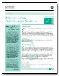 Strengthening Antistalking Statutes by Gillis, John W.