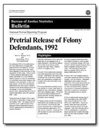 Pretrial Release of Felony Defendants, 1... by Reaves, Brian A., Ph. D.