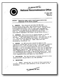 Executive Order 12333--Intelligence Acti... by Hall, Keith R.